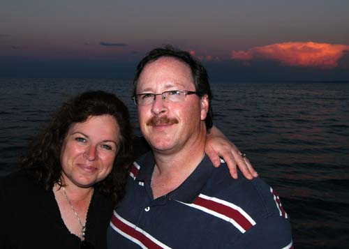 James and Ann Hamilton at Burlington beach along Lake Ontario